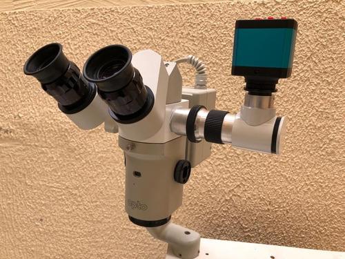 Sistema De Vídeo Para Microscópio E Lâmpada De De Fenda