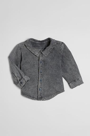 Camisa Bb Listra Lavado Malha Reserva Mini