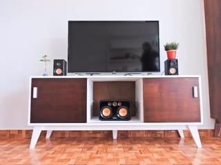 Mueble De Tv Moderno Vintage Laqueado Excelente Calidad