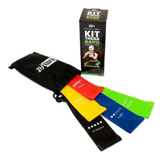 Kit 5 Faixas Elásticas Thera Band Com 5 Níveis Fisioterapia