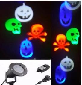 Projetor Holográficos Caveiras Halloween Refletor Rgb