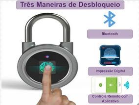 Cadeado Biometrico Desbloqueio Wi-fi App E Impressao Digital
