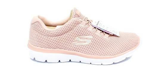 Zapatillas Para Mujer Skechers 12985/ros- Salmon
