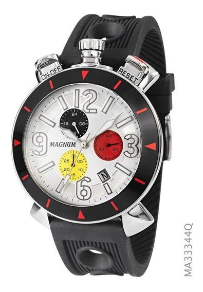 Relógio Magnum Preto Masculino Ma33344q