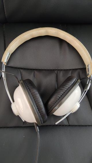 Fone De Ouvido Headphone Retrô Panasonic Rp Htx7 Branco