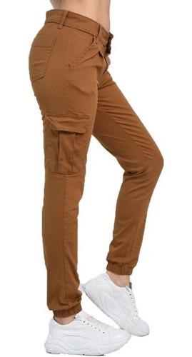 Pantalon Cargo Gabardina Mujer Lenox Indumentaria