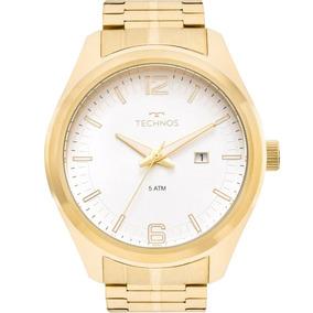 Relógio Technos Masculino Racer Dourado Casual 2117lal/1b