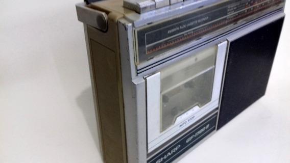 Rádio Gravador Fm Om Oc Fita K7 Sharp Vintage Funcionando