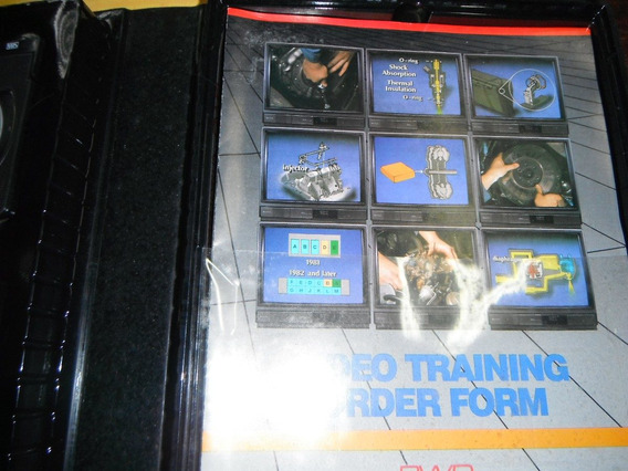 Estojo Clutch Video Tape Training Program 02 Fitas E 01 Livr