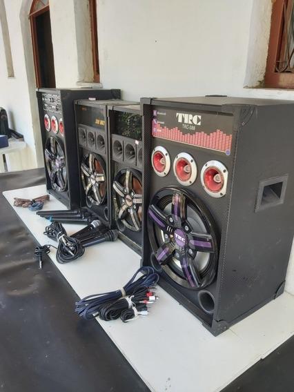 Caixas Amplificadas E Microfones