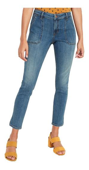 Jeans Dama Pantalón Mezclilla Rockstar Tobillo Old Navy