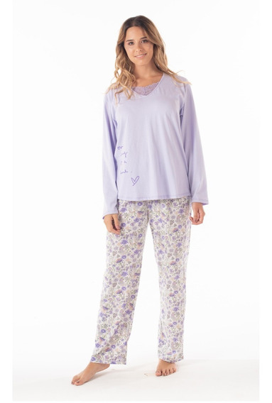 Pijama Dama Mariené Floreado Invierno 2020