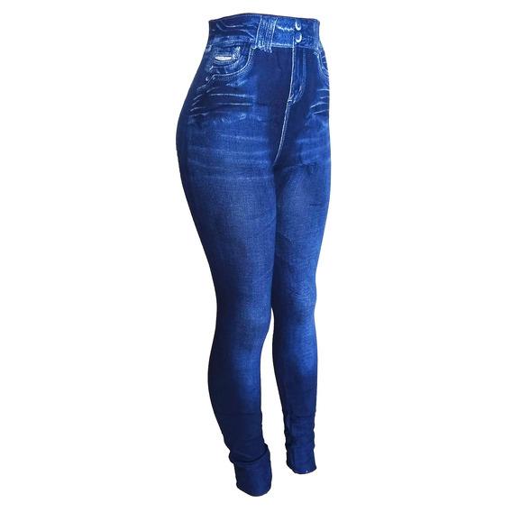 Calca Flare Imita Jeans Tecido Grosso