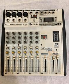 Mesa De Som Staner Mx0603 6 Canais Usb E Bluetooth Seminova