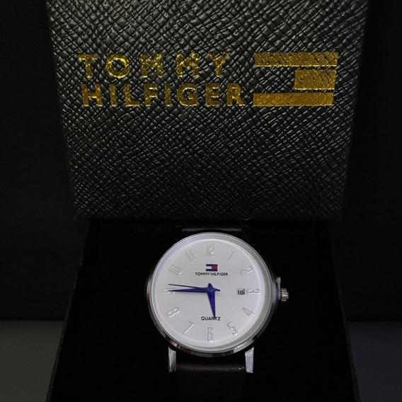 Relógio Masculino De Luxo Tommy De Couro A Preço De Custo!!!