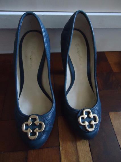 Sapato Capodarte Azul Marinho 33 Seminovo