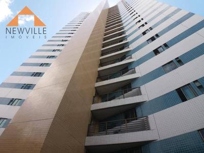 Apartamento Com 3 Dormitórios Para Alugar, 90 M² Por R$ 1.500/mês - Madalena - Recife/pe - Ap1445