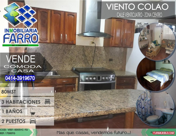 Venta De Casa En Sector Centro Ve01-0055sc-tg