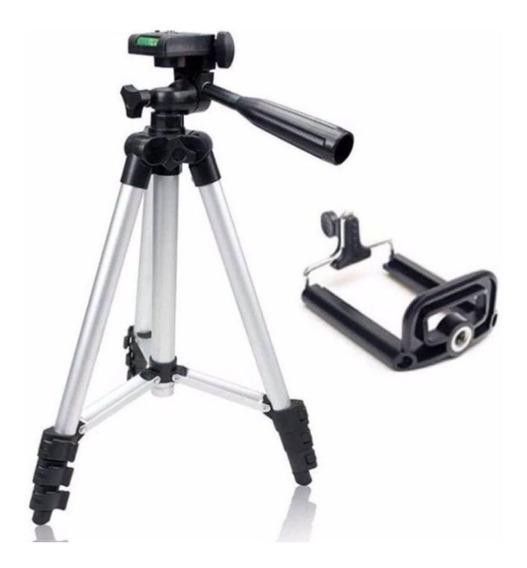 Tripé Suporte Semi-profissional Para Celular E Câmera Feito De Alumínio Flexível Articulado De 1,02m Com Bolsa De Brinde