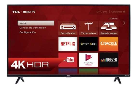 Tv Smart Tcl 43 Pulgadas 4k Ultra Hd Smart Roku Nuevo (330v)