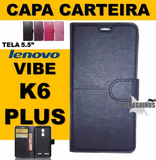 Capa Flip Carteira Lenovo Vibe K6 Plus 5.5 - Pronta Entrega