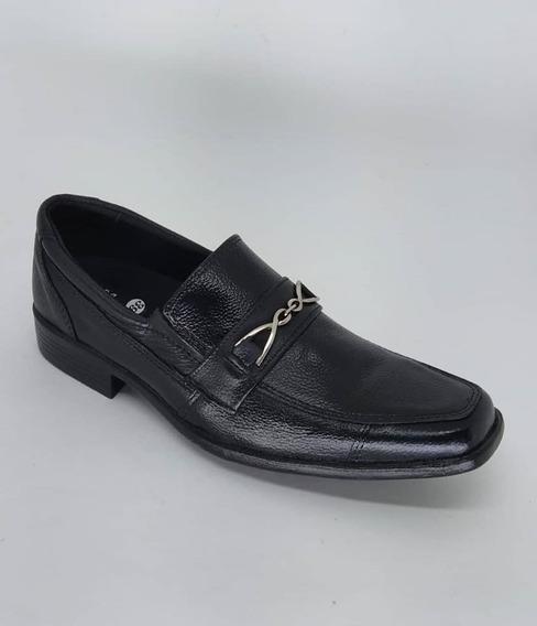 Sapato Abc Referência: 901 Preto - Produto Em Couro