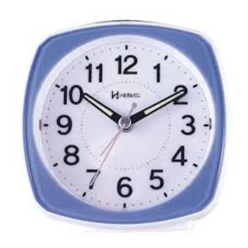 Relógio Despertador Herweg Serenity Branco E Azul 2711-321