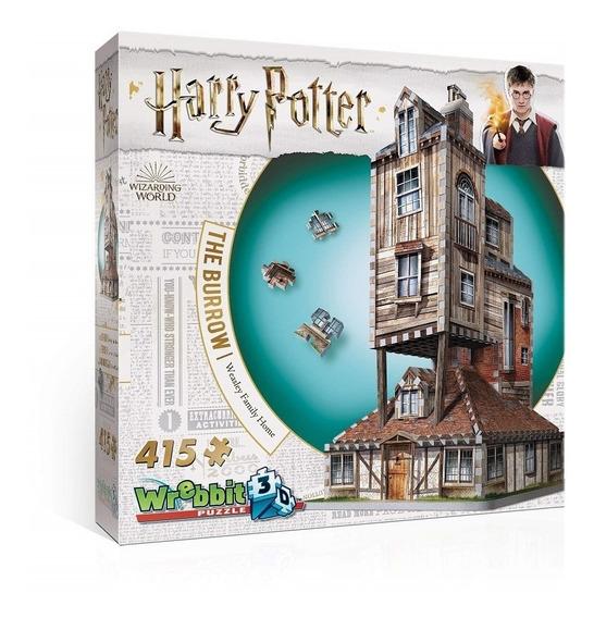 Harry Potter Puzzle 3d 415 Pçs - Casa Da Família Weasley