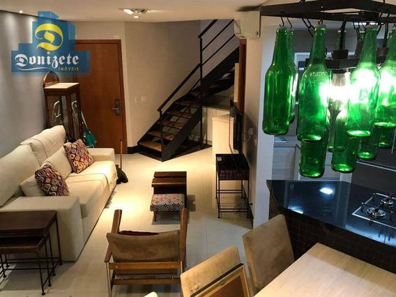 Apartamento Duplex Com 1 Dormitório À Venda, 86 M² Por R$ 689.000,10 - Jardim - Santo André/sp - Ad0006