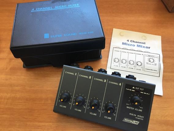Micro Mixer Soundlab 4 Canais - Importado Mini Mesa De Som