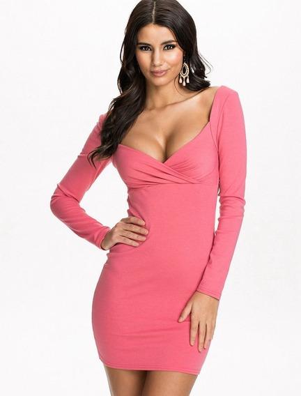 Hermosos Vestidos De Lycra Color Rosa