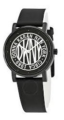 Dkny Blanco Negro Piel, Reloj Mujer Dkny2765