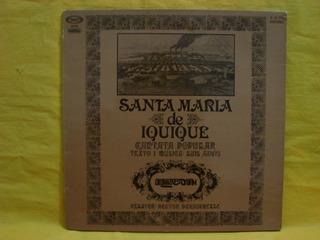Vinilo Quilapayun Cantata Santa Maria Iquique Lp España C1