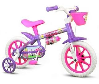 Bicicleta Infantil Menina Aro 12 Nathor Feminina