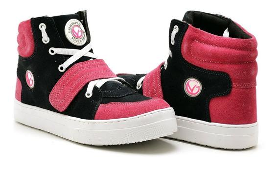Botinha Fitness Treino Couro Sneakers Feminino Lughato