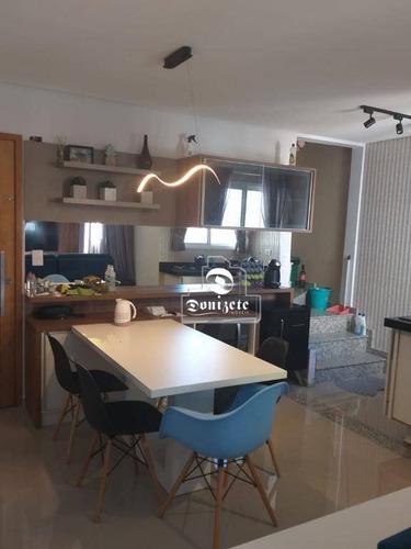 Cobertura Com 3 Dormitórios À Venda, 134 M² Por R$ 570.000,00 - Paraíso - Santo André/sp - Co11361