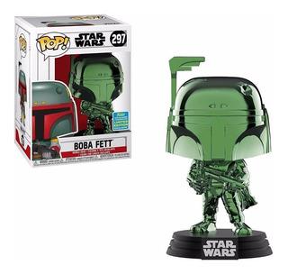 Funko Pop Star Wars 297 Boba Fett Chrome Sdcc Exclusivo