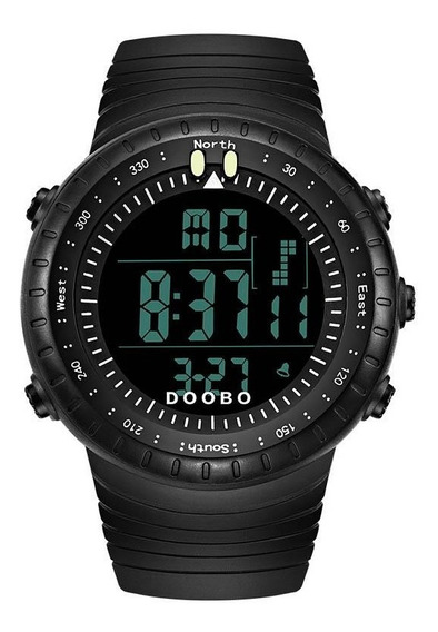 Relógio Militar Preto Display Full Black Prova D`água