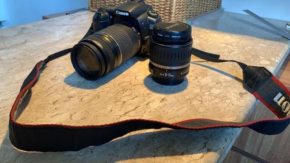 Camera Canon Eos 20d , Lentes Canon Efs 18-55 E Ef 75-300