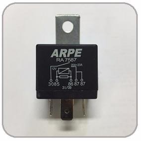 Relé Auxiliar Duplo 87 20a+20a Sistema Injeção Eletrônica