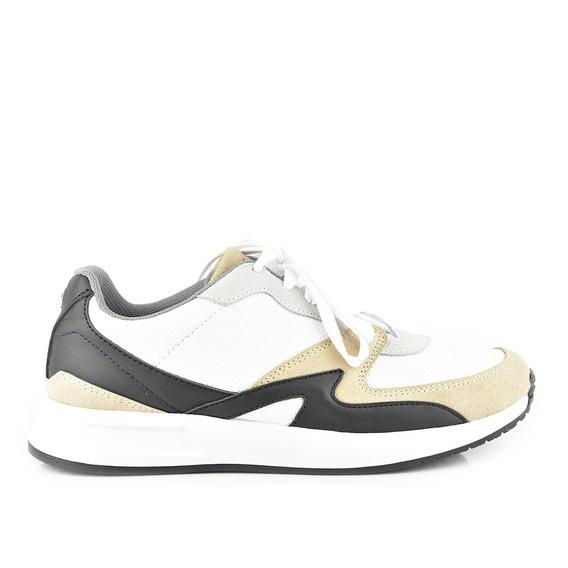 Tenis Urbanos Para Hombre Lob Footwear 656-9529 Negro Nuevo Oi19
