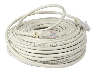 Cable De Red Patch Cord 20 Metros Armado Rj45 Ethernet Lanus