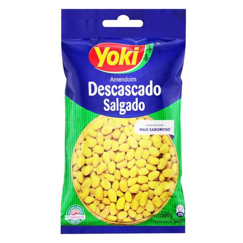 Amendoim Descascado Salgado Yoki 500grs.