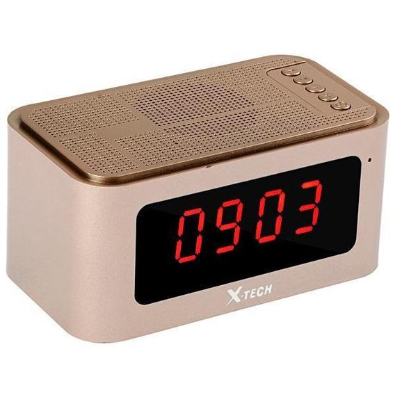 Radio Relogio Digital X-tech Bluetooth Recarregavel Usb Sd