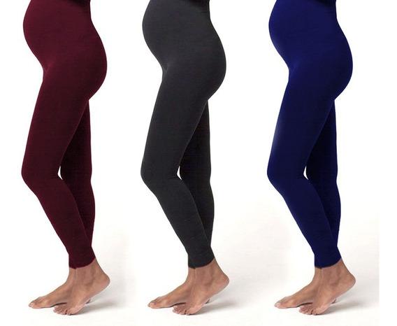 Pantalón Materno Tipo Leggings En Algodón Varios Colores