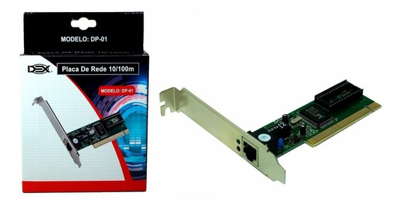 Placa De Rede 10/100 Pci Chipset Realtek 8139dl Dex Dp-01