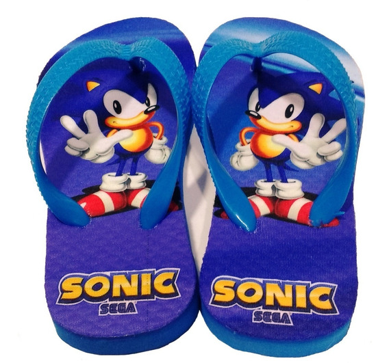 Chinelo Personalizado Tema Sonic Sega- Jogos