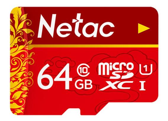 Cartão Memória Netac Tf Microsd U1 C10 Tráfego Recorder