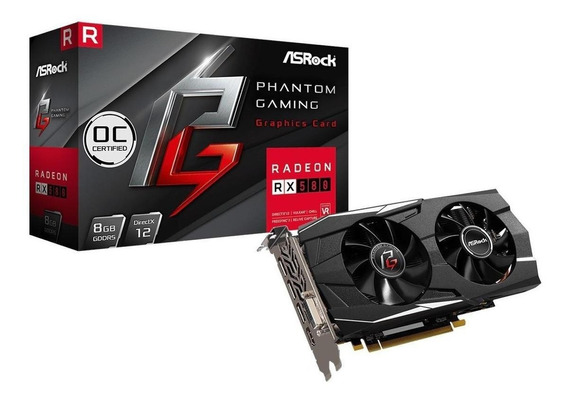 Placa de video ASRock Radeon RX 500 Series PG D RADEON RX580 8G OC 8GB