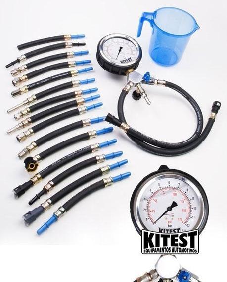 Manômetro Pressão De Combustível 17 Mangueiras Ka-015.17 Kit